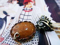 Agate Natural Stone Pendant by fulyayaba on Etsy, $19.00
