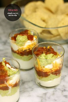 Game night snacks: nacho dip for one / The Sweet Escape #party