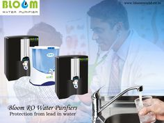 Bloom RO water purifiers for protection from lead in water