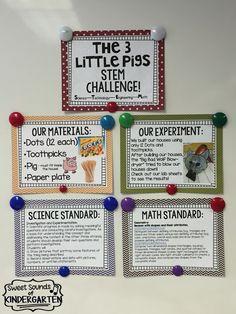 Sweet Sounds of Kindergarten : The 3 Little Pigs- STEM Challenge!!