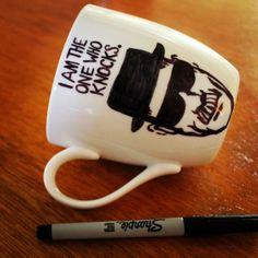 A Bit of Bees Knees: DIY Sharpie Mug {Breaking Bad}