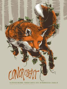 #Gigposter for Conor Oberst  by Ken Taylor.