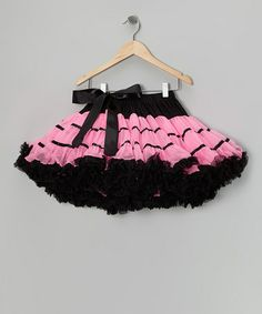 Take a look at this Black & Hot Pink Flamingo Pettiskirt - Infant, Toddler & Girls by TUTU COUTURE on #zulily today!