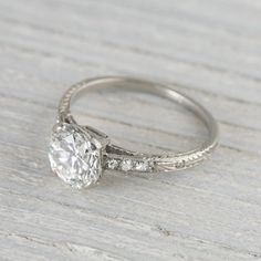 1.55 Carat Vintage Art Deco Engagement Ring | Erstwhile Jewelry Co.