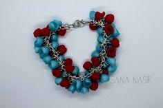 Bracelets Bleus, Boutique Etsy, Charmed, Jewelry, Color Blue, Red, Handmade Bracelets, Handmade, Hands