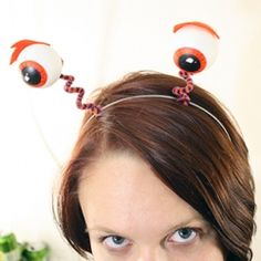 Make this quick & easy bit of wearable Halloween fun using ping pong balls, permanent markers and pipe cleaners!