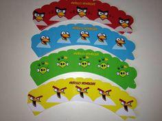 Wrapper para cupcake Angry Birds. Sainha para acabamento do cupcake tamanho grande. (padrão) Impressão em papel glossy brilho 230gr. Fazemos qualquer tema. Quantidade mínima 20 unidades. R$ 1,00