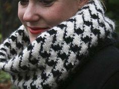 Une écharpe à motif pied de poule? Voici un tutoriel pour la réaliser ! Pour ceux qui ont déjà des bases en tricot.
