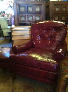 1960s leather club chair