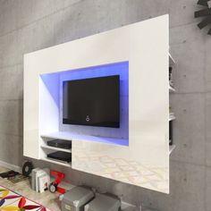 Ebay Angebot Hochglanz Wohnwand Mediawand Anbauwand Schrankwand LED TV Wand  169,2 Cm Weiß #Ihr QuickBerater