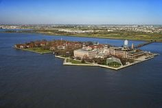 Photo about Aerial view of Ellis Island, New York City. Great Places, Places To See, Beautiful Places, Pictures Of America, Domestic Destinations, Images Of Colours, Ellis Island, Before Us, Aerial View