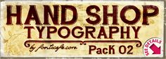 """""""Hand Shop Typography_Pack 02"""" fonts"""