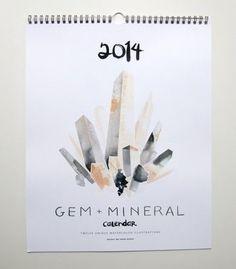 Graphic Design - Graphic Design Ideas  - 2014 Gem + Mineral Calendar #luvocracy #graphicdesign #calendar   Graphic Design Ideas :     – Picture :     – Description  2014 Gem + Mineral Calendar #luvocracy #graphicdesign #calendar  -Read More –