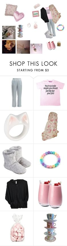 """""""Sweet dreams sweet heart"""" by captin-j-rose ❤ liked on Polyvore featuring Asceno, INDIE HAIR, Nach, Greenland Home, Rachel Ashwell, H&M, Accessorize, American Apparel, Denby and Guide London"""