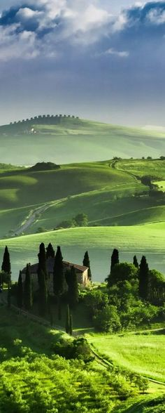 Valley of San Quirico d'Orcia, Tuscany, Italy