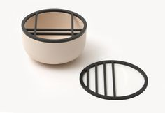 minimalist lidded bowl by Hanna Kruse