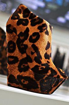leopard wedge heels yes please