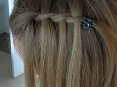 waterfall twist on myself / back to school / Bonita Hair Do - YouTube