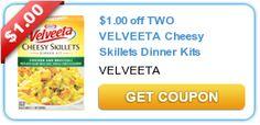 12 New Kraft & Velveeta Coupons!!