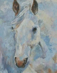 White horse painting, Palette knife painting, original oil by Carol DeMumbrum Title: The King's Horse Size: inch I really enjoyed painting this beautiful horse with the palette knife. White Horse Painting, Fine Art Amerika, King Horse, Palette Knife Painting, Equine Art, Wildlife Art, Horse Art, Animal Paintings, Painting Inspiration