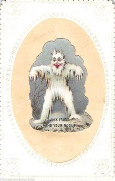 Jack Frost (mind your nose) Christmas Graphics, Funny Christmas Cards, Vintage Christmas Cards, Vintage Holiday, Christmas Pictures, Vintage Cards, Vintage Postcards, Christmas Artwork, Vintage Valentines