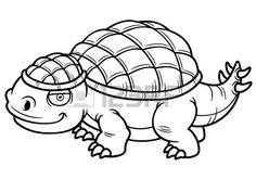 Vector illustratie van Dinosaur-Cartoon Kleurboek