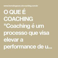 """O QUE É COACHING  """"Coaching é um processo que visa elevar a performance de um indivíduo (grupo ou empresa), aumentando os resultados positivos por meio de metodologias, ferramentas e técnicas cientificamente validadas, aplicadas por um profissional habilitado (o coach), em parceria com o cliente (o coachee)."""" (Villela Da Matta & Flora Victoria)  O processo de coaching leva o cliente a novos entendimentos, alternativas e opções capazes de fazer com que ele amplie suas realizações e…"""