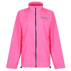 Boss challenging conditions with our unisex Reflective Windbreaker Running Jacket. This design in candy pink features reflective print detail on the zip, cuffs, neck and Tikiboo logos to enhance your visibility on dark runs. Snuggle into the protective collar as you clock up the miles.  Made from lightweight Polyester fabric and also available in black, purple and neon yellow, these stylish jackets are showerproof and windproof. Stylish Jackets, Running Jacket, Pink Candy, Neon Yellow, Workout Tops, Nike Jacket, Joggers, Cuffs, Windbreaker