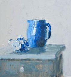 stilllifequickheart:    Giovanni Casadei  Pitcher and Delftware   2012