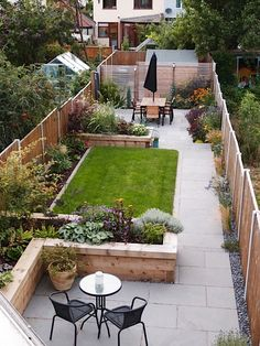 Backyard Garden Landscape, Small Backyard Gardens, Small Backyard Landscaping, Backyard Fences, Garden Landscape Design, Small Gardens, Landscaping Ideas, Small Backyards, Sloped Backyard
