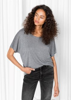 Other Stories image 1 of Wool-Blend Tee in Grey