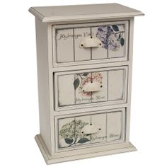botanical chest of 3 drawers