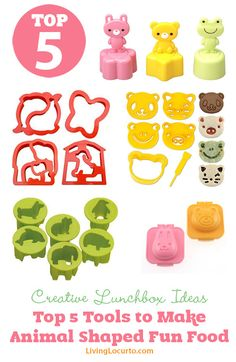Top 5 Tools to Make Animal Shaped Fun Food - Cute Bento Lunchbox Ideas