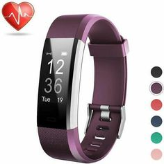 LETSCOM Fitness Tracker HR, Activity Tracker Watch with Heart Rate Monitor, Waterproof Smart Bracelet with Step Counter, Calorie Counter, Pedometer Watch for Kids Women and Men Activity Tracker Watch, Fitness Activity Tracker, Fitness Activities, Fitness Tracker, Fitness Tips, Office Exercise Equipment, No Equipment Workout, Running Wear, Smart Bracelet