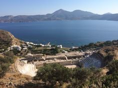 Ancient theater in Milos. Amazing spot close to Klima.