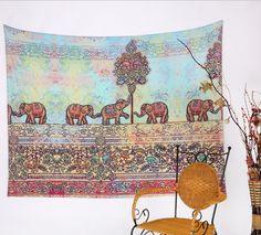 Mandala Tapestry Polyester Wall Tapestry Indian Elephant Tapestry Lotus Yoga Mat Home Decor Carpet toalla mandalas playa Bohemian Wall Tapestry, Indian Tapestry, Mandala Tapestry, Tapestry Wall Hanging, Colorful Tapestry, Mandala Throw, Indiana, Cool Tapestries, Elephant Tapestry