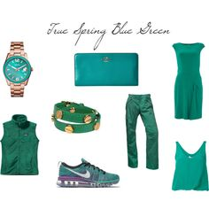 True Spring Blue Green by christinems on Polyvore featuring mode, Lauren Ralph…