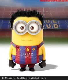 Dit moet Xavi voorstellen als minion. Hij voetbalt bij FC Barcelona en Catalaans voetbalelftal.