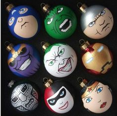 I know these are ornaments, but you can easily transform them into beautiful rocks!