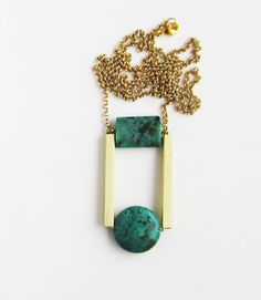 NEW - African turquoise necklace