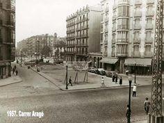 Carrer Aragó (1957) Barcelona