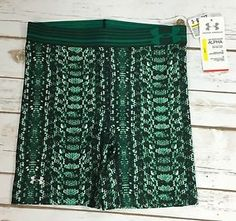"Under Armour HeatGear Alpha Green Compression Womens XS Mid 5"" Shorts New | eBay"