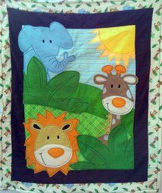 Animal Quilt Animal Friends Applique blanket