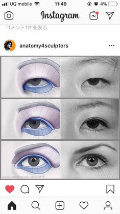 Eye Shapes Drawing 414401603216666619 - Source by salimkafiz Eye Art, Eye Drawing, Digital Art Tutorial, Portrait Drawing, Art Reference Poses, Anatomy Art, Digital Painting Tutorials, Anatomy For Artists, Anatomy Sketches
