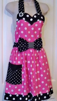 Womens Legends Minnie Mouse  Apron  Pink Halloween Costume Christmas Present on Etsy, $33.00