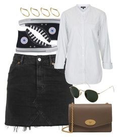 """Untitled #5959"" by rachellouisewilliamson on Polyvore featuring Converse, Topshop, Mulberry, Ray-Ban and ASOS"