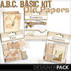 Basic Old Paper Elements_1
