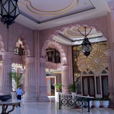 Lobby at Leela Palace Kempinski Bangalore.  Had many nice lunches and coffees here.