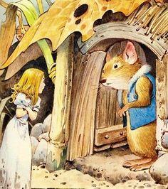 Дюймовочка Тони Вульф.- Ах, ты бедняга! – пожалела ее полевая мышь (она была доброй старушкой). Иди-ка сюда, поешь и согрейся у меня!