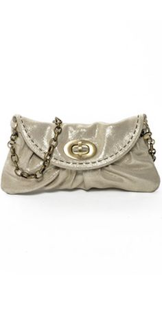 Carla Mancini Amy Bag in Sparkle Champagne, the perfect little metallic accessory for any summer look!
